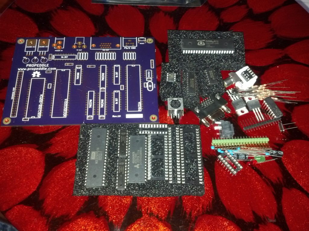 All the parts that are needed for a Propeddle Rev.11. Except there is no Rev.11 PCB yet, only a Rev.10 PCB.